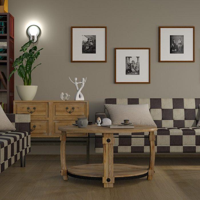 sofa, chess, interior